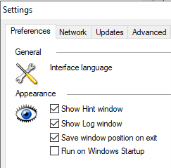 Run On Windows Startup Settings